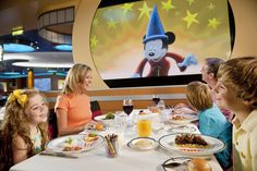Paying homage to the magic of Disney animation, Disney Cruise Line's Animator's Palate on the Disney Fantasy includes a unique dinner show starring some of your favorite Disney characters