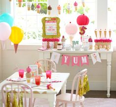 How to Plan an Ice Cream Shoppe Party