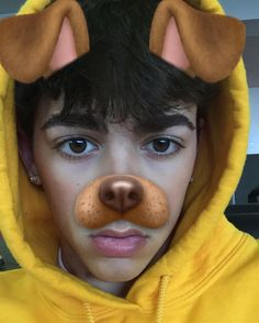 """heyy, the names Mikey and I'm seventeen years old. I love using the dog filter, and I love food. You'll always catch me eating snacks at three in the morning."" I chuckle. ""introduce?"""