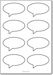 8 Blank speech bubbles | Free Printables, free printable shape templates