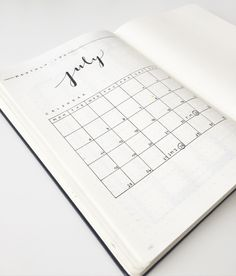 Bullet Journal® Show & Tell with Federica @feebujo. Monthly Log.