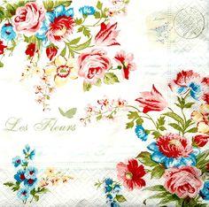 4 Déjeuner serviettes en papier pour découpage Table De Fête Craft Vintage Boho Style