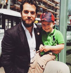 Henry Cavill with a young fan, May 2015, Jersey. [via HCN]