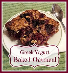 Greek Yogurt Baked Oatmeal