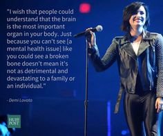 Demi Lovato talking about mental health and mental illness