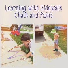 Views From the Step Stool: Learning with Sidewalk Chalk and Paint