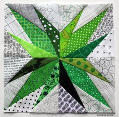 Crest star - free paper piecing patterns. Lots of fab blocks.