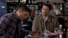 """Dean and Castiel from 10X09 (""""The Things We Left Behind"""")"""