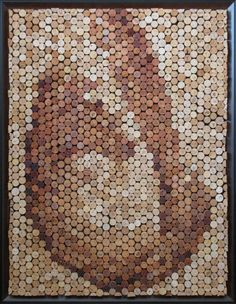 Wine Cork Mosaic  Poured by MarksWineCorkArt on Etsy