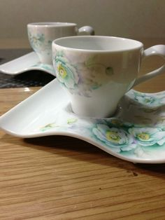 Porcelain painting Coffee cup
