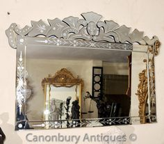 Venetian Glass Mantle Mirror Cut Venice Mirrors