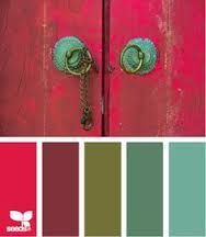 teal white red colour bohemian - Google Search