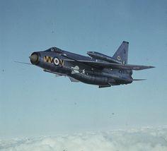 An English Electric Lightning F.6 of No 74 Squadron at RAF Leuchars, Fife.