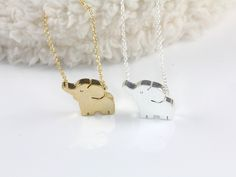 Hello Miss Apple: Baby Elephant Necklace