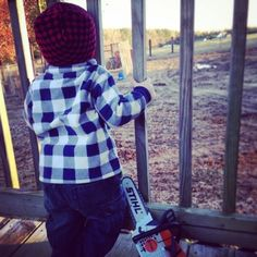 Getting the lay of the land. Fan photo from Chaley S. #LittleLumberjack