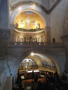 "Two levels of altars at the Church of the Transfiguration.  Only the ""big boys"" get the upper altar."