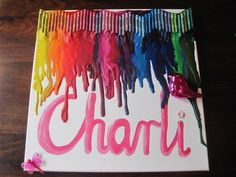 Melted Crayon on Canvas {5sos} | Crafts | Pinterest | Melted ...