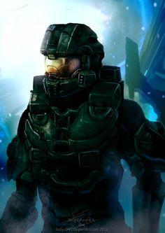 Halo 4: Chief's Return by WinterSpectrum.deviantart.com on @DeviantArt