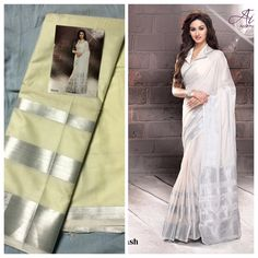 """Weekend saree sale"" Pls call/whatsapp +919600639563. Code: ddc slvr Price: 2799/- Material: Soft cotton. For booking and further details pls call or whatsapp us at +919600639563. Happy shopping y'all :) Be Beautiful :)"