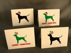 Dog Christmas Card Set by doggydesign on Etsy