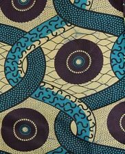 African Rope & Medallion Print Fabric new BY 1/2 YD fancy wax ethnic p438