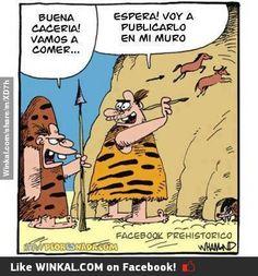 Facebook en la Prehistoria.