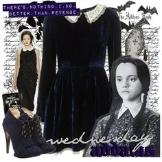 """""""halloween costume - wednesday addams"""" by ahdorable on Polyvore"""
