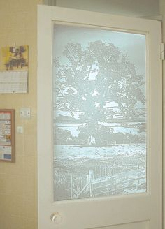 73c Exmoor Oak. Etched Designs and Mix 'n Match Designs by Peels of London Stained Glass Window Film www.e-peels.co.uk