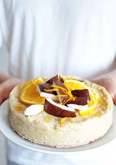 No-Bake Coconut Orange Quinoa Cake