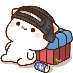 Cute Animal Drawings Kawaii, Cute Cartoon Drawings, Cartoon Jokes, Cute Love Gif, Cute Cat Gif, Cute Cartoon Pictures, Cute Images, Mochi, Chibi Cat
