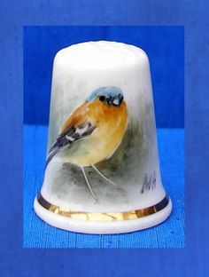 Handpainted Chaffinch Thimble Signed MH | eBay Sep 25, 2013 / GBP 14.50
