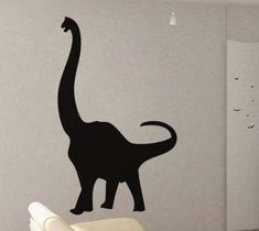 Dinosaur  - Wall Decal Vinyl Decor Art Sticker Removable Mural Modern Kids Animals. $39.99, via Etsy. Use color #7 Brown. Goes to the left of the window
