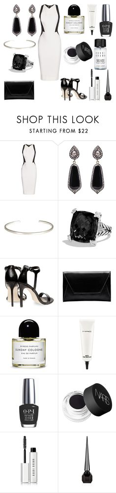 """Без названия #3062"" by southerncomfort ❤ liked on Polyvore featuring Victoria Beckham, Kasturjewels, Le Gramme, David Yurman, Dorothy Perkins, Flynn, Byredo, MAC Cosmetics, OPI and NARS Cosmetics"