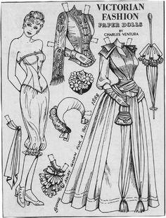 Victorian fashion paper doll 1