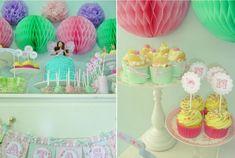 kindergeburtstag deko cupcakes barbie torte