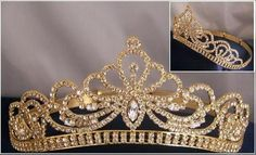 Royal Kate Middleton Inspired Crystal Diamante Silver Bridal Tiara Crown Miss Beauty Queen Pageant Rhinestone GOLD Crown Tiara Gold Tiara, Gold Crown, Crown Jewels, Royal Crowns, Tiaras And Crowns, Bridal Crown, Bridal Tiara, Tatoo Crown, Pageant Crowns