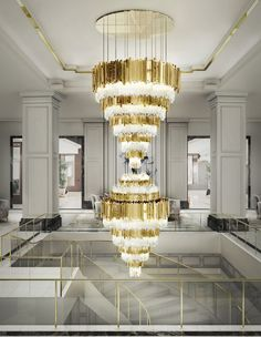 f you are a high-ceiling home owner, you should consider getting the most of it with a monumental lighting design.