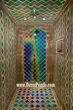 You Will Not Need A Heater If You Have This Shower With Heat Sensitive Tiles .