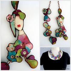 I see this necklace made of layered shrink dinks!  VERY AWESOME!