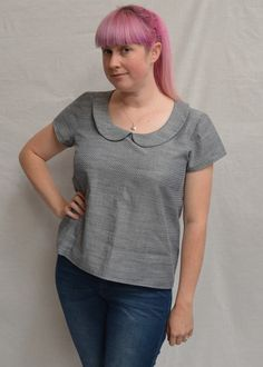 grainline scout tee peter pan collar tutorial finished