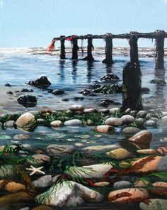 Buy original artwork via our online art gallery by UK Artists. Affordable paintings for sale. Discover new art added today: Shop Now Beach Images, Rock Pools, Painting & Drawing, Fence Painting, Landscape Paintings, Acrylic Paintings, Paintings For Sale, Online Art Gallery, New Art