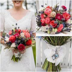Country Wedding Bouquet with Locket