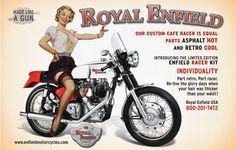 pin up typography - Royal Enfield - Made like a Gun!