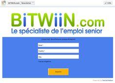 Newsletter Facebook Registration Form - Bitwiin.com #Socialshaker
