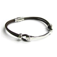 "Stainless Steel (316L) Brown Leather Cord 3mm Magnetic Wrist Round Bracelet 8'' Queenberry. $19.98. Per Cord thickness: ~3mm. Length: 8"". Materials: Genuine Leather Cord, Magnet & 316L Stainless Steel. Stainless steel bar width: ~5mm X 5mm. Color: Brown Leather cord and Steel"