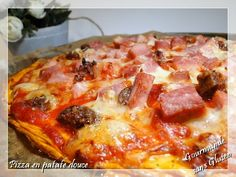 Gourmande sans gluten: Pizza à la pâte de patate douce