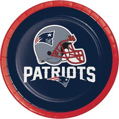 (96/case) New England Patriots 7'' Luncheon Plates