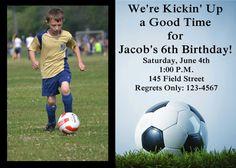Soccer Birthday Invitation by 3psinapod2011 on Etsy, $9.99