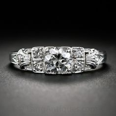 .51 Carat Diamond Art Deco Engagement Ring - 10-1-6235 - Lang Antiques