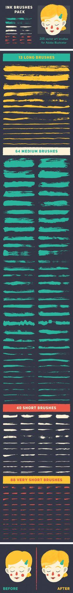 Ink Brushes Pack - Brushes Illustrator